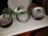 x3 or x6 Glass ball paper weights / ornaments Beautiful