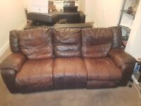 3 and 2 seater recliner sofa