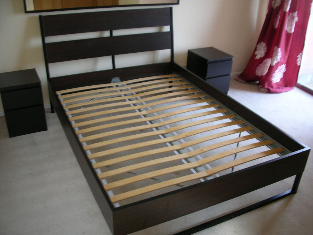 Trysil standard double bed wth luroy slatted bed base and for Bed base ikea