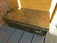 Large Metal Vintage Trunk