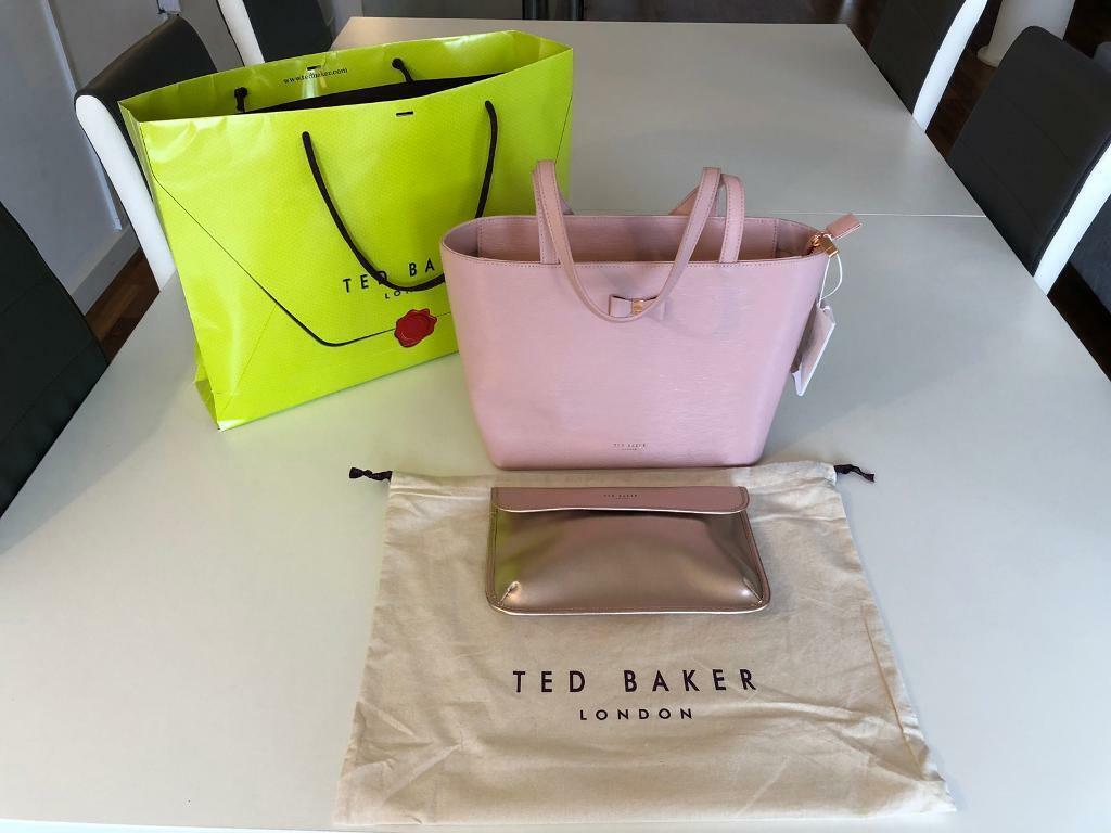 c6cc6f52c TED BAKER JJESICA Bow detail leather shopper bag