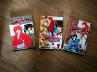 Rurouni Kenshin Manga - First 3 volumes