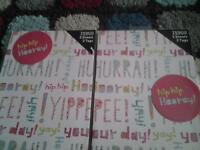 2x pk of 2 sheets and tags of birthday wrapping paper £1