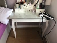 1 Beautiful Dressing table with Ornate attached mirror & Storage Drawers ( Hernes range Ikea )