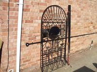 reduced price wrought iron heavy garden gate 64in high x 32in wide