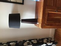 Tall table lamp stand and shade (£15 each)