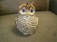 Vintage Toni Raymond Pottery Cutie Owl Money Box Collectable