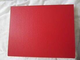 NEW Big Red and White Folder