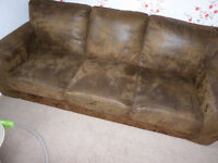 3 seater sofa (dark brown)