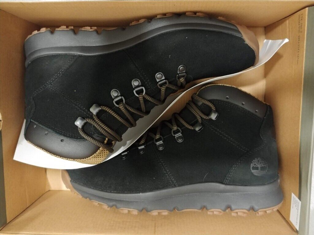 e9403617ea76 Timberland World Hiker Mid Boots Shoes Black UK 9 Genuine New Boxed