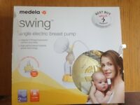 Medela Swing 2-Phase Electric Single Breast Pump with Calma for Sale
