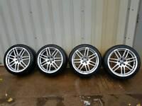 Vw audi skoda rs4 replica alloy wheels alloys 18