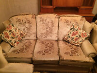 Reversible Fabric 3 Piece Suite (Sofa and 2 Arm Chairs)