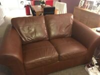 2x leather sofas 2yr old from Next good condition £60 each or 2 for £100