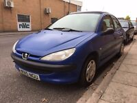 PEUGEOT 206 1.1 PETROL MANUAL 5 DOOR HATCHBACK BLUE GOOD DRIVE CHEAP CAR BLUE NOT CORSA 106 CLIO KA
