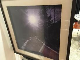 Framed picture path to the sun
