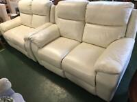 2+2 real leather recliner suite can delivery