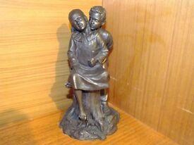 "Bronze Figurine ""First Kiss"" Genesis Fine Arts Ireland"
