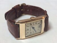 Vintage 9k 9ct solid gold Optima mens tank watch VERY CHEAP