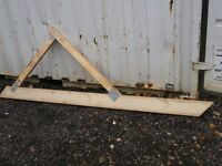 Wooden Roof Trusses for a Lean-To
