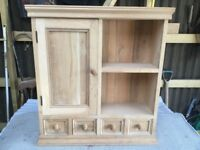 Unused, as new, pine kitchen wall cupboard