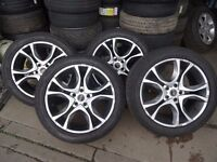 """set of 20"""" genuine rangerover alloys with new 265 50 20 gudyear tyres quick sale £400"""