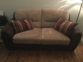Lovely Suede n Fabric Sofa Bed
