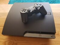 Ps3 320gb slim boxed with 10 games