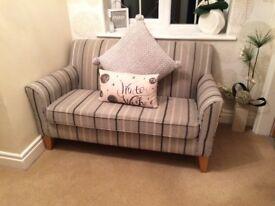 Grey Stripe Two Seater Sofa