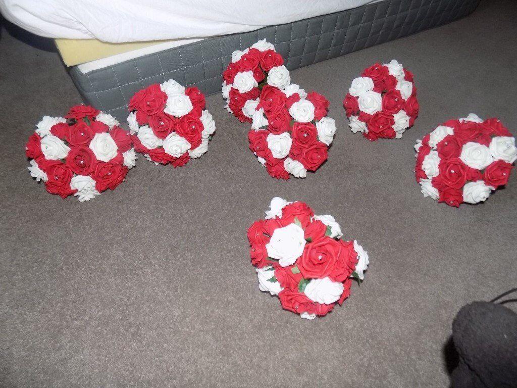 Silk Bridesmaid Wedding Bouquets