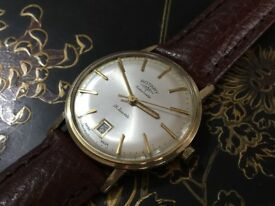 Vintage 9k 9ct 375 solid gold Rotary Automatic mens watch