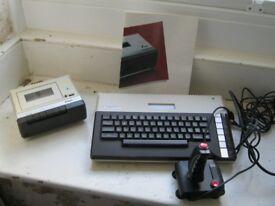 ATARI 800 XL COMPUTER – VINTAGE – WITH DATA RECORDER AND JOYSTICK