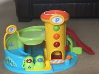 Happyland Garage with several cars