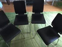 4 dining chairs for sale (dark brown)