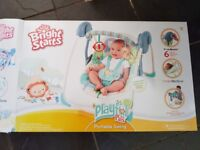 Bright Starts Playful Pals Portable swing, boxed with instructions