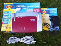 FRITZ!Box Fon WLAN 7390 - 4 Port Gigabit VoIP Router *** FREE UK DELIVERY *** Excellent Condition