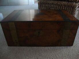 Large Victorian Writing Slope/ Wooden Box
