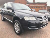 2006 06 Volkswagen Touareg 2.5 TDI SE 174 BHP Tiptronic DVD HEATED LEATHER LOW MILES ONLY 90K