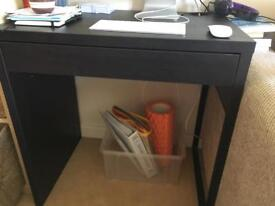 Small glass computer desk with world map on top in cardiff gumtree ikea micke desk brown gumiabroncs Gallery