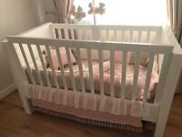 Kidsmill Luxurious Gloss Baby Cot Bed PLUS Mattress