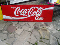 cola and schweppes large metal signs.£5.00 each