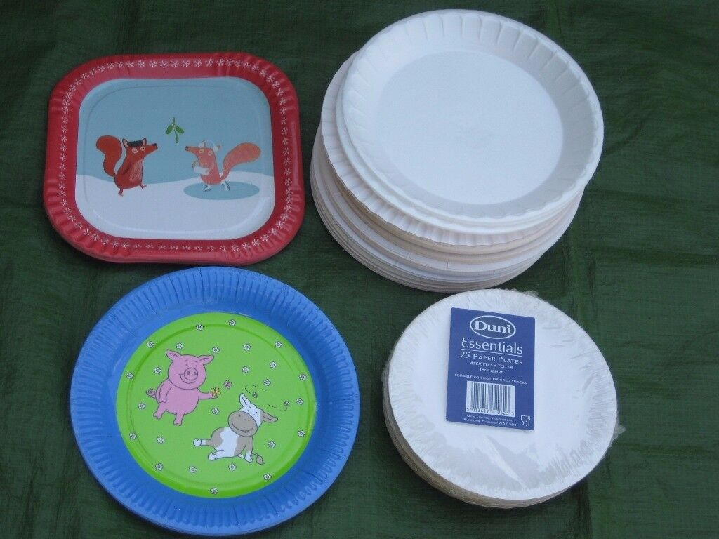 142 Assorted Paper Plates for Picnics and Parties for £4.00
