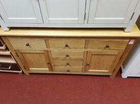 knightsbridge solid oak sideboard 105