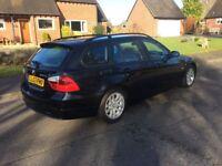 BMW 320 TDi SE TOURING ESTATE..NEW MOT..FSH STUNNING IN BLACK..MANUAL