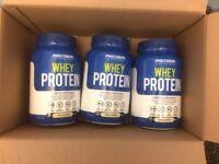 X3 908g unopened vanilla whey protein