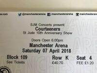 Courteeners Tickets x 2 seated lower tier £120 - SOLD OUT Manchester gig 7th April