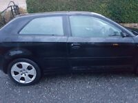 Audi a3 3.2 2005 reg motd may 2017 black in coulour ready to drive away £1200 no offers