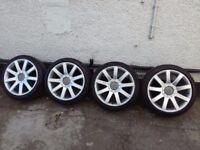 Audi tt ,s3, genuine 18 alloys witch tyres