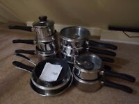 Judge Vista 18/10 Stainless Steel Complete Set (Saucepans, Frying Pan, Steamer)
