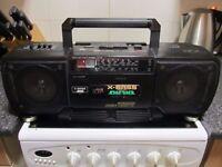 Sharp Wq-T238 X-Bass,original late 80s ghetto blaster in perfect condition,please see ad/picture etc